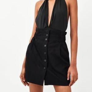 Zara black paperbag miniskirt